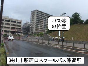 狭山市駅西口バス停